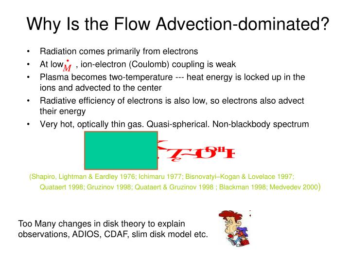 Why Is the Flow Advection-dominated?