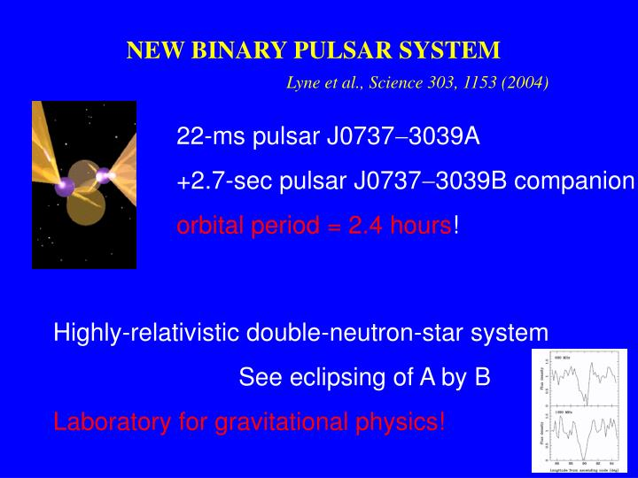 NEW BINARY PULSAR SYSTEM