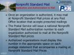nonprofit standard mail application and authorization to mail