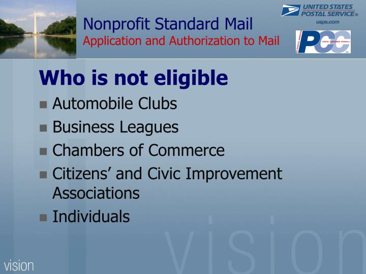 Nonprofit Standard Mail