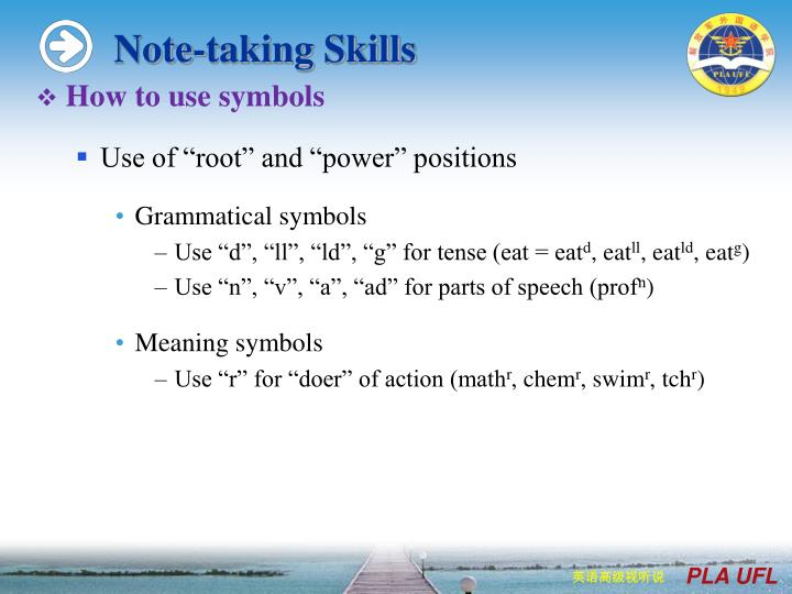 Note-taking Skills