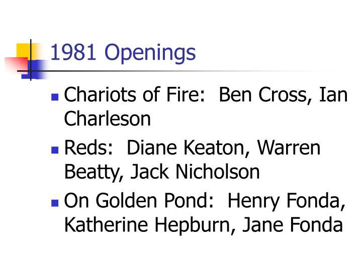 1981 Openings