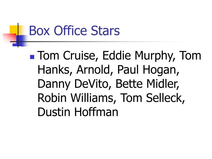 Box Office Stars