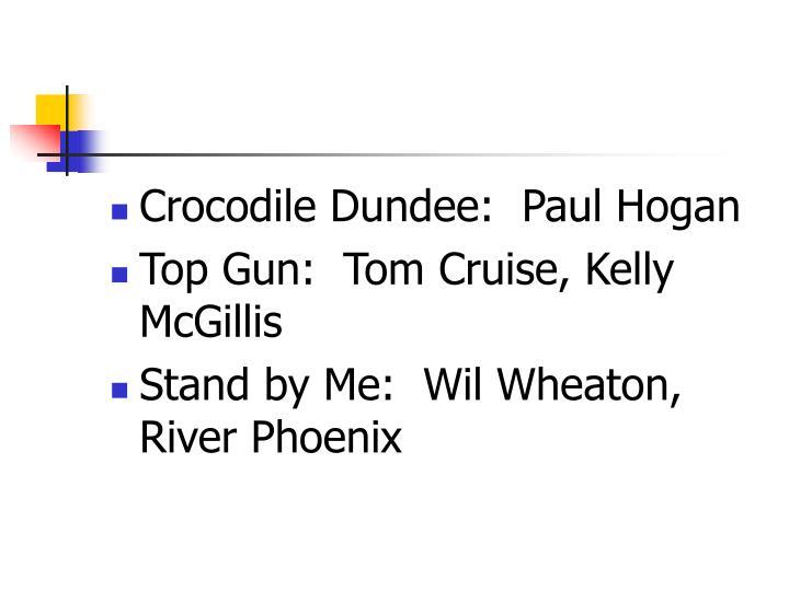 Crocodile Dundee:  Paul Hogan