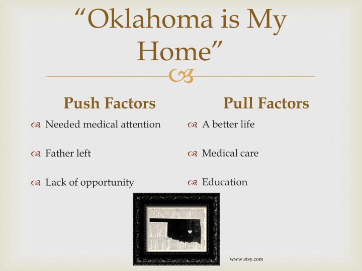 """Oklahoma is My Home"""