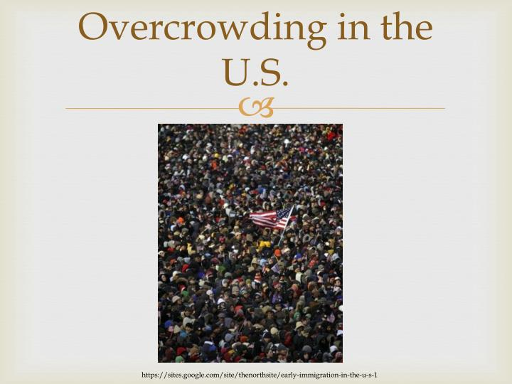 Overcrowding in the U.S.