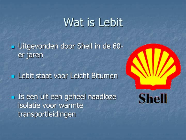 Wat is lebit