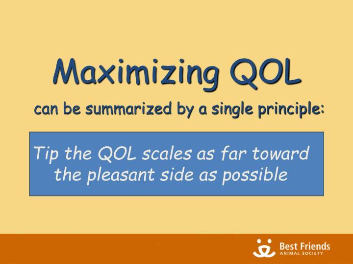 Maximizing QOL