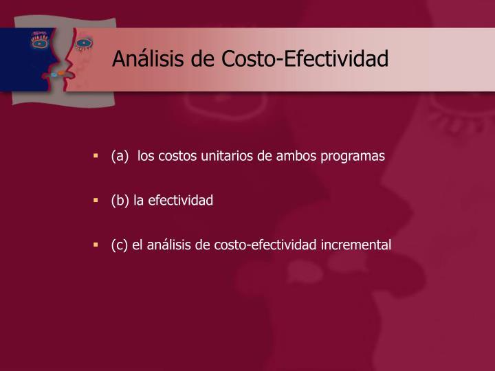 Análisis de Costo-Efectividad