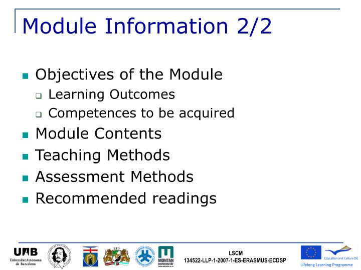 Module Information 2/2