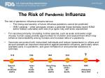 the risk of pandemic influenza