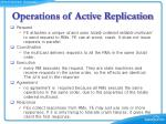 operations of active replication