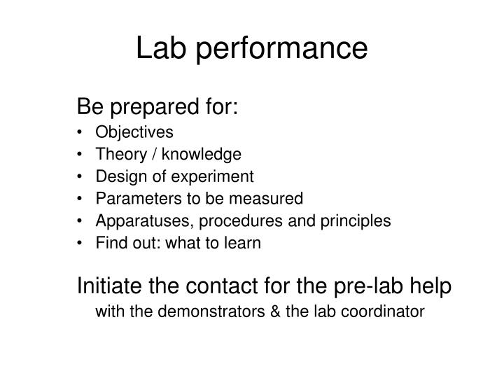 Lab performance