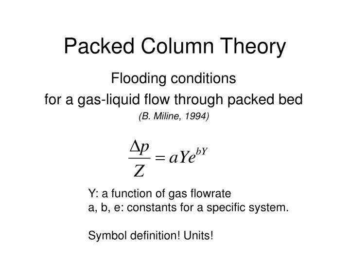 Packed Column Theory