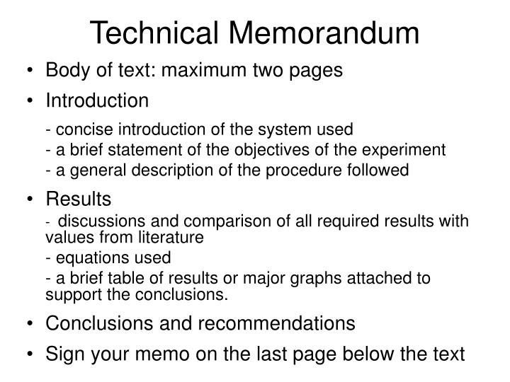 Technical Memorandum