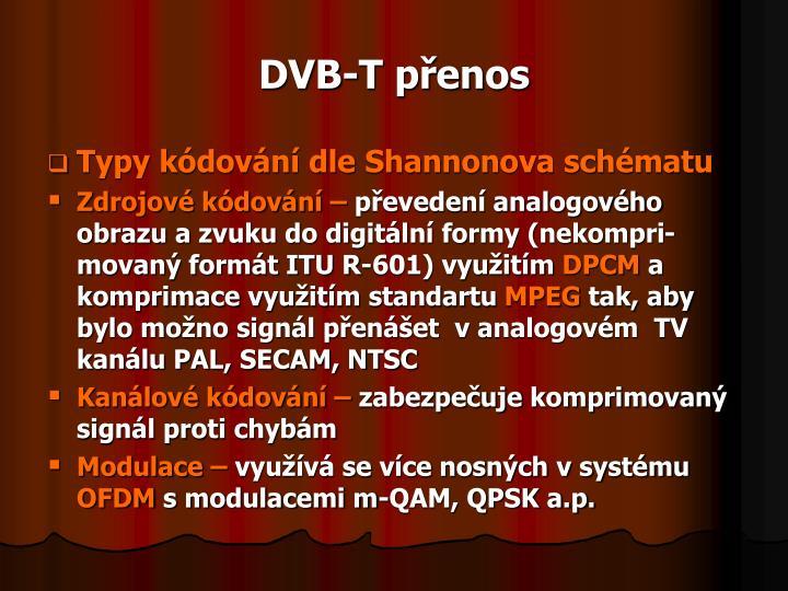 DVB-T přenos