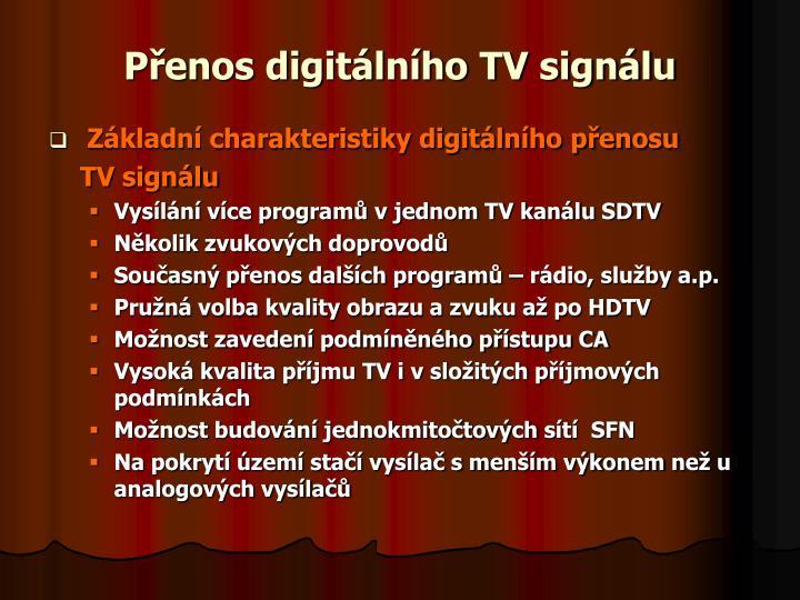 Přenos digitálního TV signálu