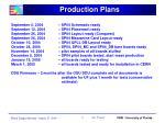 production plans