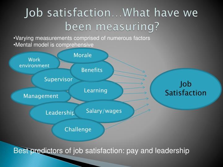 Job satisfaction…What have we been measuring?