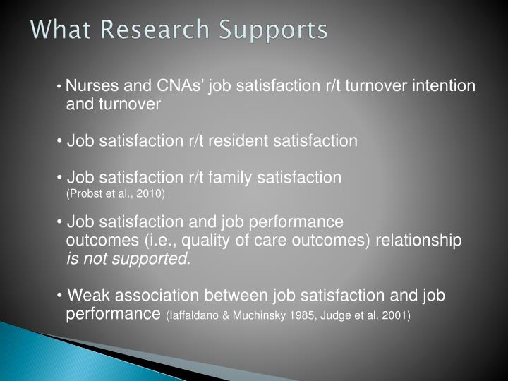 What Research Supports