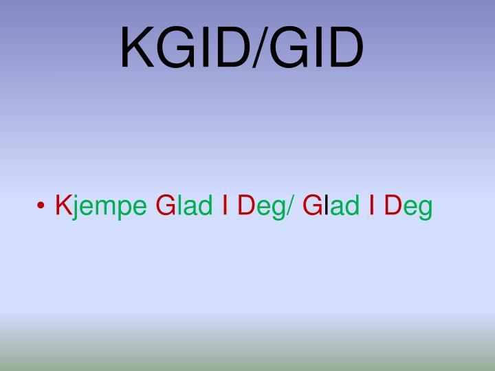 KGID/GID