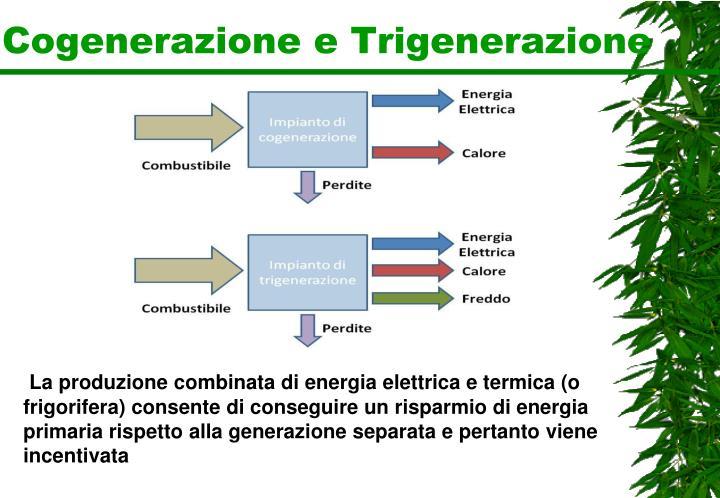 Cogenerazione e Trigenerazione