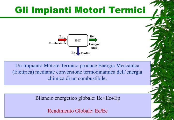 Gli Impianti Motori Termici