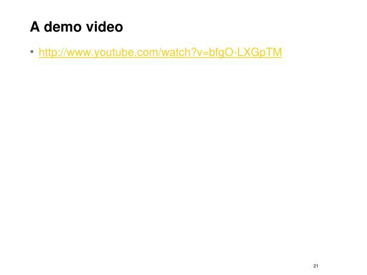 A demo video