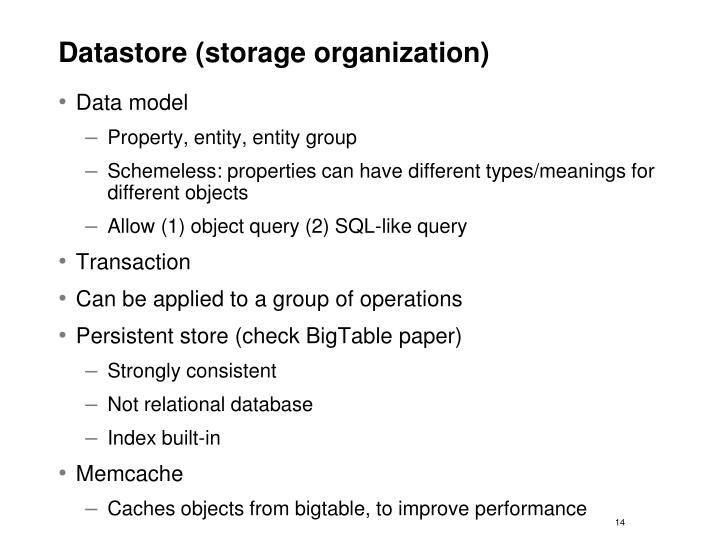 Datastore (storage organization)