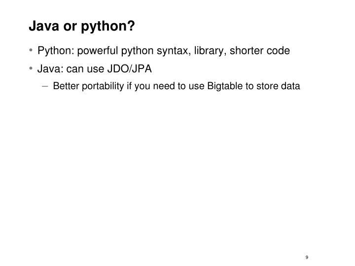 Java or python?