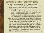 economic effects of an import quota10