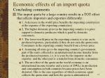 economic effects of an import quota12