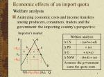 economic effects of an import quota3