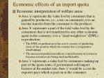 economic effects of an import quota4