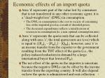 economic effects of an import quota5