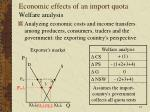 economic effects of an import quota8