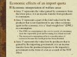 economic effects of an import quota9