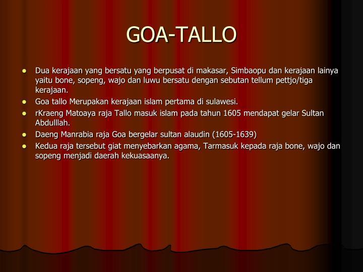 GOA-TALLO