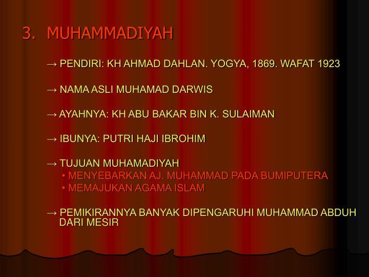 3.MUHAMMADIYAH