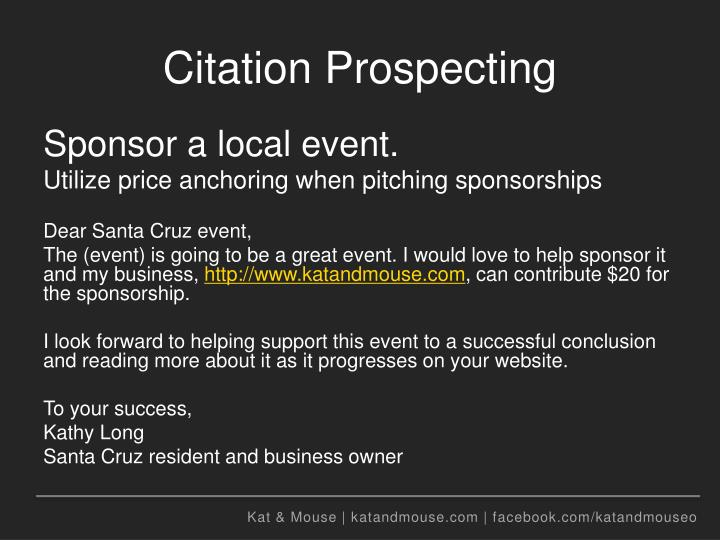 Citation Prospecting