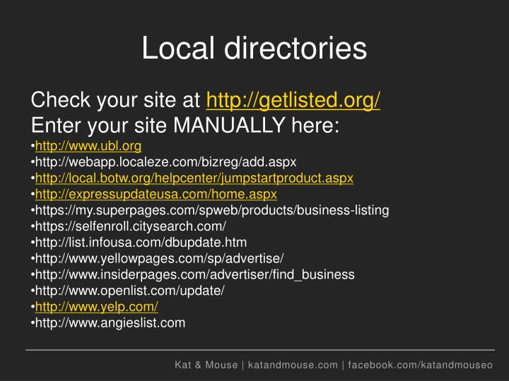 Local directories