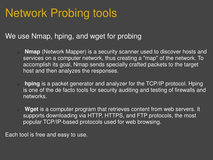 Network Probing tools