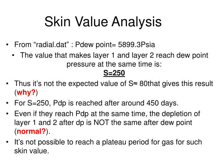 Skin value analysis