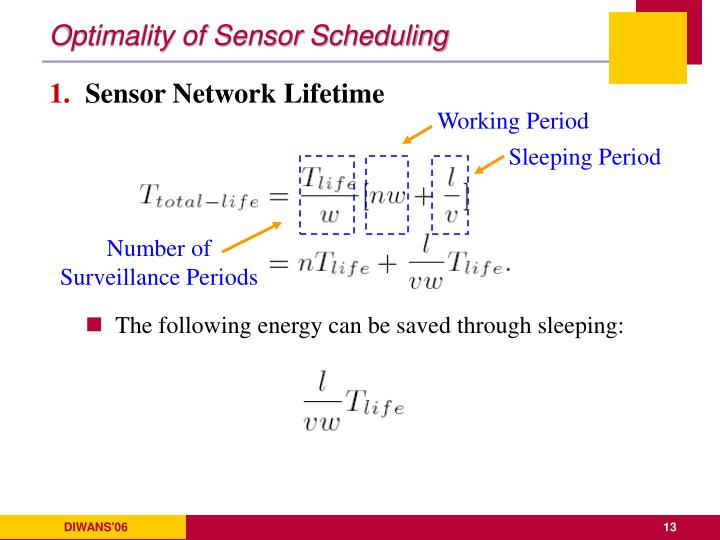 Optimality of Sensor Scheduling