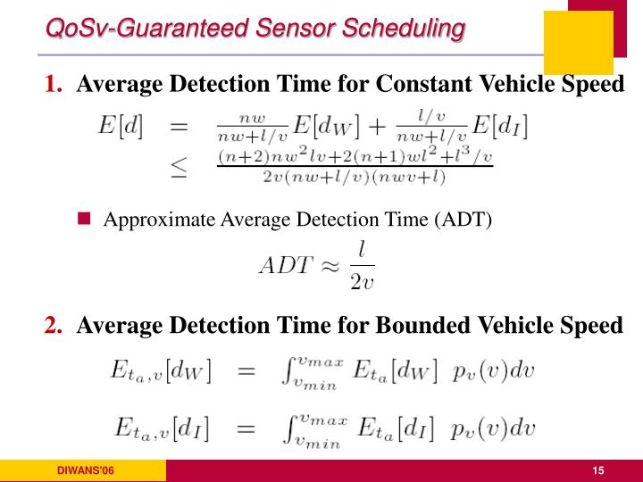 QoSv-Guaranteed Sensor Scheduling