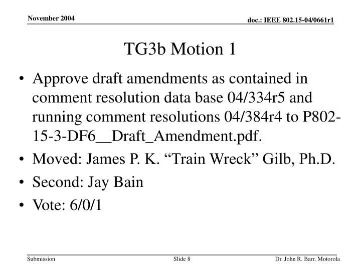 TG3b Motion 1