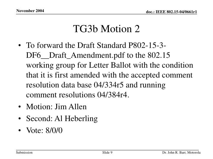 TG3b Motion 2