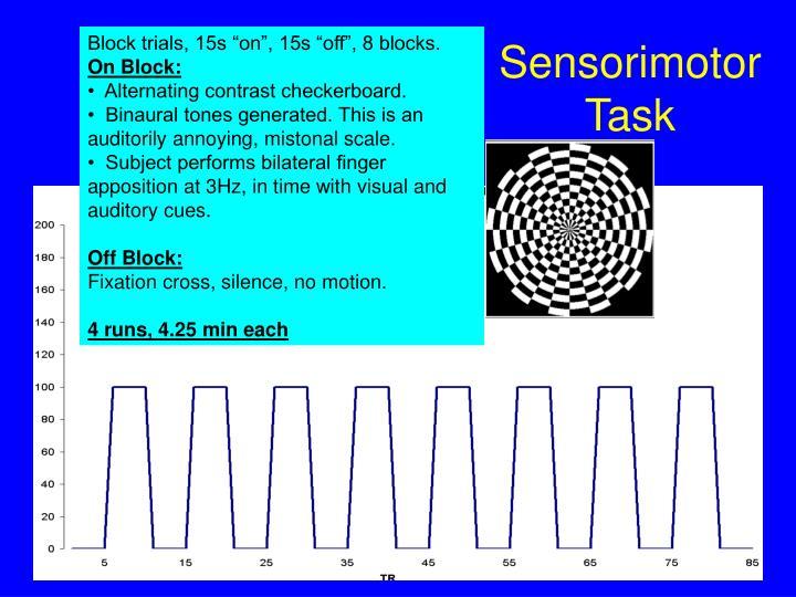 Sensorimotor Task