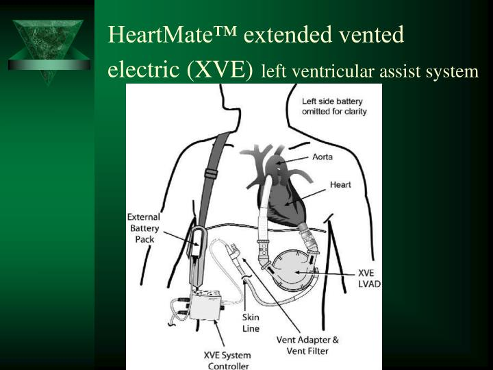 HeartMate™ extended vented electric (XVE)