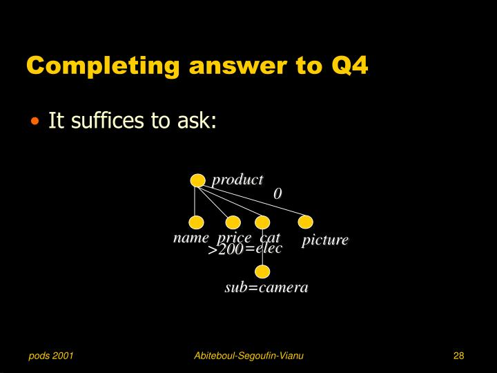 Completing answer to Q4